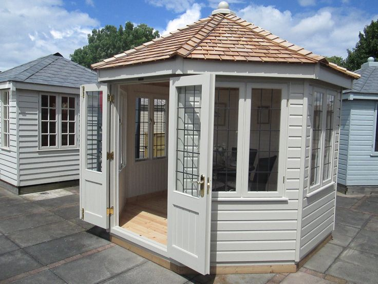 Wiveton Summerhouse 3 0m X Finished In Old White Farrow Ball Paint