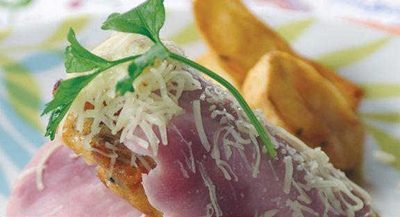 Bifes de peru com batata salteada