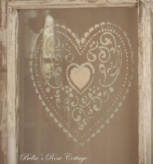Bella's Rose Cottage: Valentines Day Mantle....