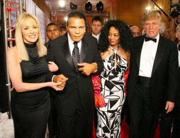 Sharon Stone Muhammad Ali Diana Ross and Doanld Trump