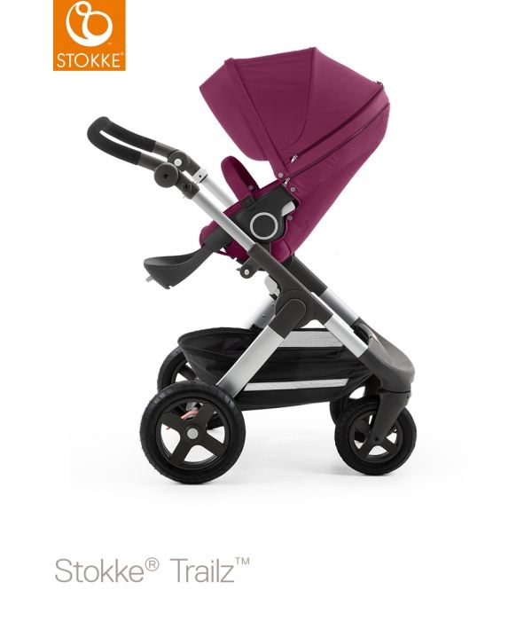 The versatile All Terrain stroller. Built for adventure, Stokke® Trailz™ takes you wherever you want to go – in all seasons and in all terrains. Like all Stokke® strollers, the carry cot and seat positions of new Stokke® Trailz™ lift your baby higher to encourage connection between parent and child. Superior manoeuvrability and effortless steering secure a smooth ride for your little one. Large air filled tyres and a spacious waterproof shopping basket make Stokke® Trailz™ the perfect choice…