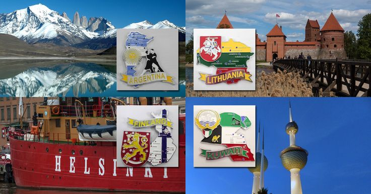 New four metal fridge magnet maps are coming soon. #Argentina, #Lithuania, #Finland and #Kuwait.