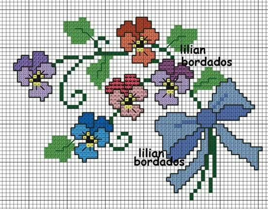 Floral cross stith pattern #Simple#cross#stitch