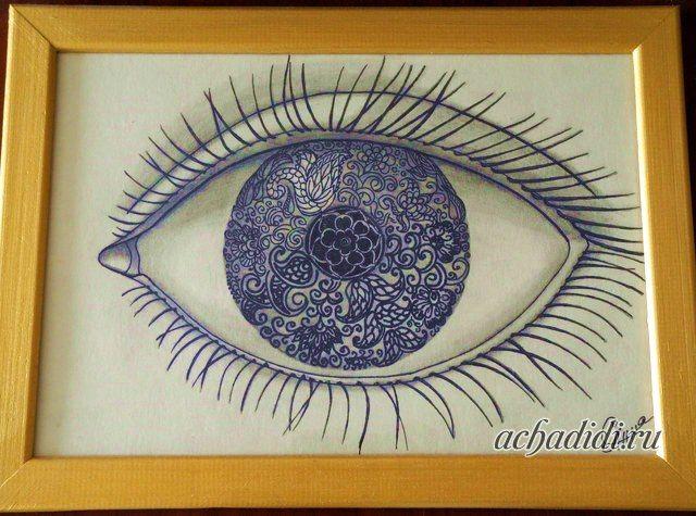 индийский глаз #мехенди #рисунок #painting #графика #глаз #глаза #art #mehendi