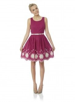 Embroidery Skater Dress