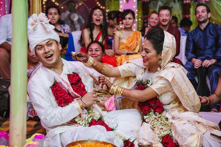 In #Assamese language, the #marriage #ceremony is known as #Biya. Photo credit: http://cheezensnap.com  #wedding