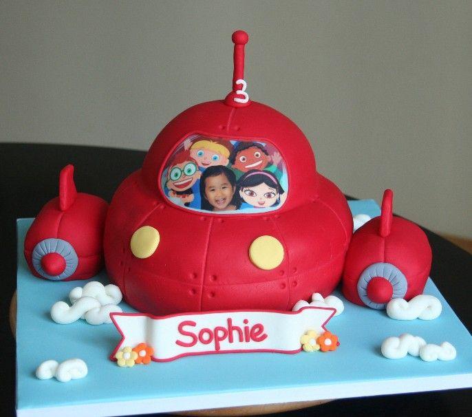 Cute Fondant 3D Cake Design Of Rocket Edited The Edible Icing Image