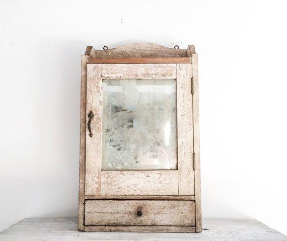 Vintage Farmhouse Medicine Cabinet with Mirror by fraeandco