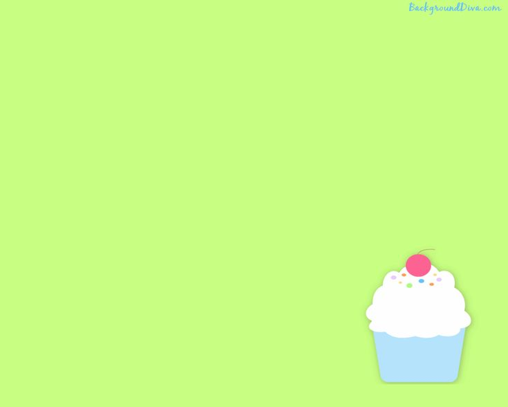 Cupcakes Cupcake Desktop A Bright Green Background With Wallpaper with