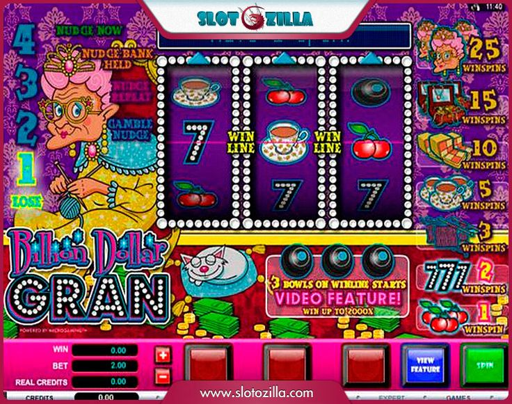Billion Dollar Gran free #slot_machine #game presented by www.Slotozilla.com - World's biggest source of #free_slots where you can play slots for fun, free of charge, instantly online (no download or registration required) . So, spin some reels at Slotozilla! Billion Dollar Gran slots direct link: http://www.slotozilla.com/free-slots/billion-dollar-gran