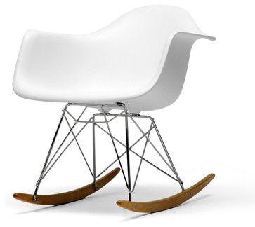 Baxton Studio White Plastic Rocking Chair midcentury-rocking-chairs http://www.houzz.com/photos/7822128/Baxton-Studio-White-Plastic-Rocking-Chair-midcentury-rocking-chairs