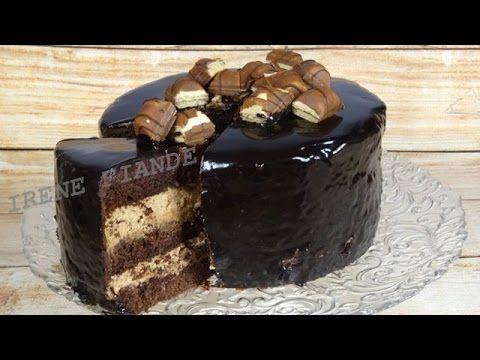 Шоколадный торт Киндер Буэно. Праздничный  шоколадный торт с шоколадной глазурью - YouTube