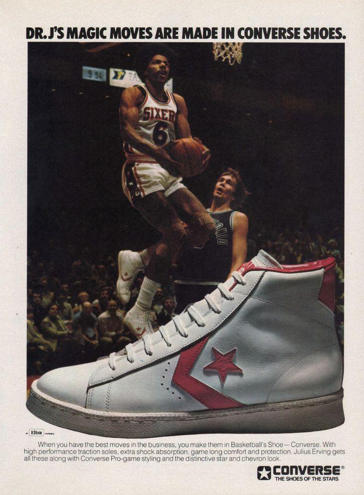 Vintage Ad: Dr. J For Converse Basketball 1977.   Dos años ahorrando para comprarlos