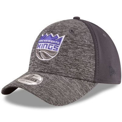 New Era Sacramento Kings Heathered Gray/Graphite Shadowed Team 39THIRTY Flex Hat