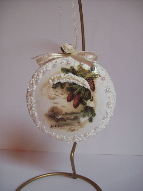 Christmas Ball, decoupage