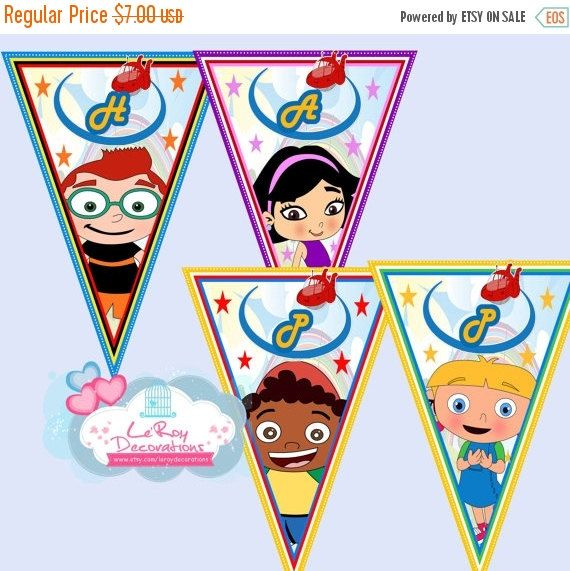 ON SALE 15% OFF Little Einsteins Birthday Banner, Little Einsteins Birthday Decoration