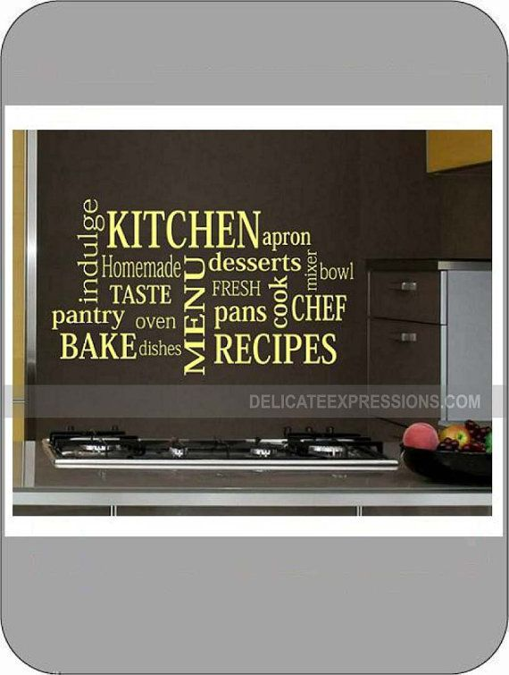 Kitchen Subway Art  (SMALL) -  Vinyl Wall Art Lettering, Quotes, Decals by Delicate Expressions