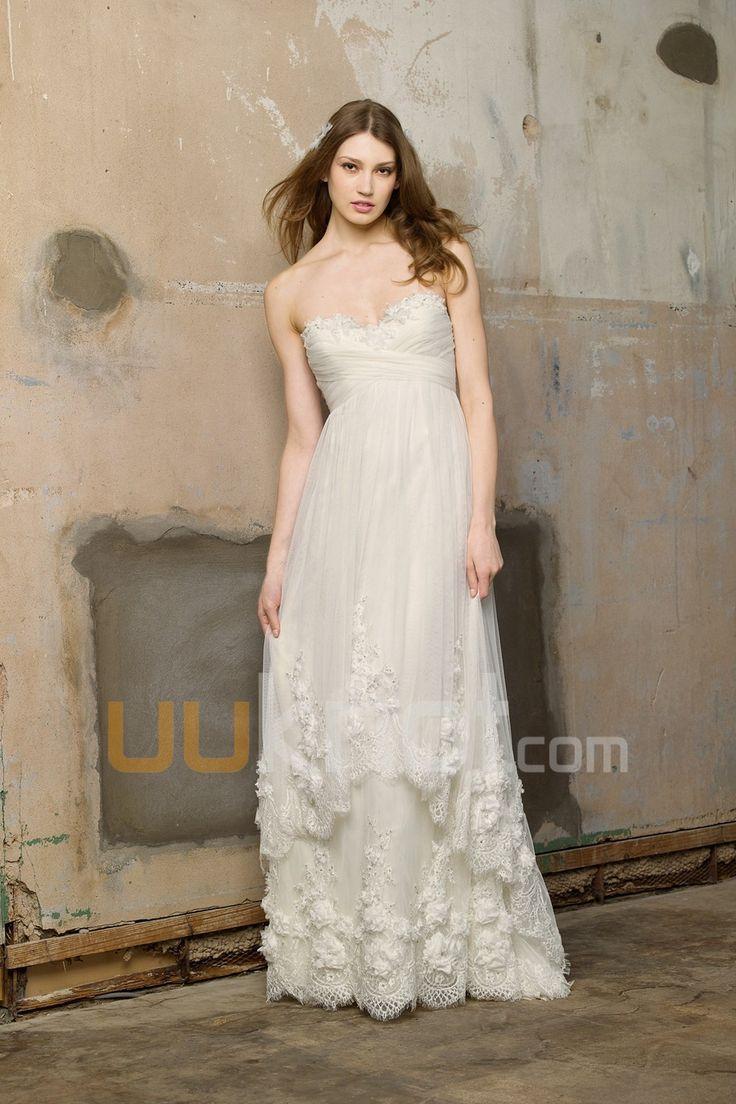 26 besten Brautkleider in Empire-Linie Bilder auf Pinterest ...
