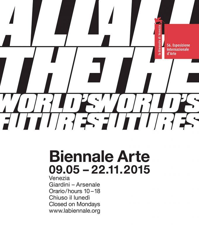 Logo Biennale di Venezia 2015 http://doublestandards.net/project/all-the-world-s-futures-56th-international-art-exhibition-of-la-biennale-di-venezia