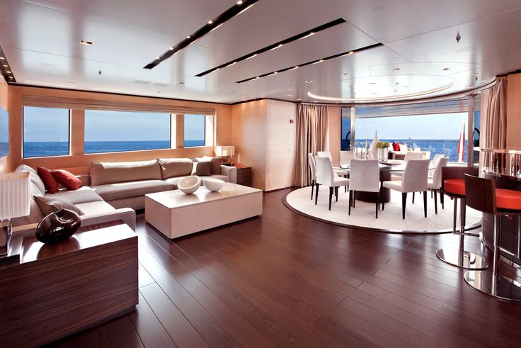 #Sanlorenzo #46Steel is a 46-metre-long #superyacht with a five-deck, displacement hull, semi-wide body, high tensile steel hull, and 5083 #aluminum #superstructure. Her layout is inspired by the interior of larger superyachts to ensure onboard spaciousness and avoid any compromise in terms of comfort.