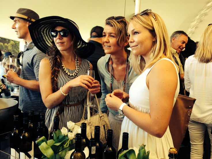 Enjoying Newstead wines at the Plett Bubbly & WIne festival