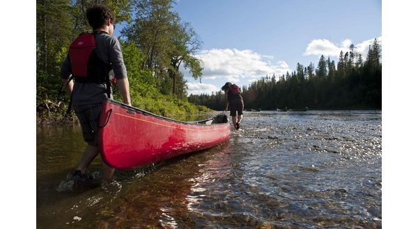 Canoë, Kedgwick River, Nouveau-Brunswick, Canada