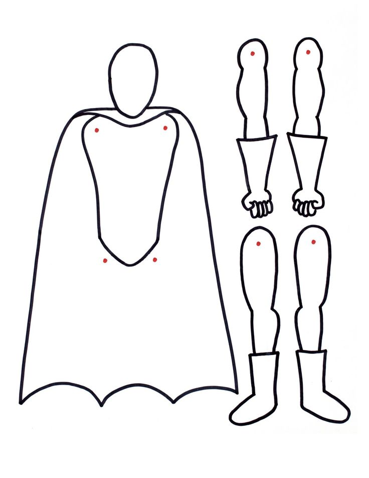 superhero paper doll / children can design their own super hero, cut out & assemble : -)
