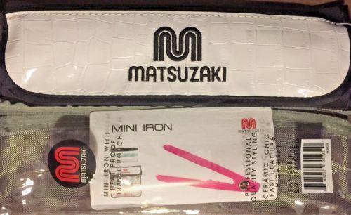 MATSUZAKI-MIN-430F-3-4-034-CERAMIC-IONIC-DUAL-VOLTAGE-FLAT-IRON-amp-HEAT-MAT-POUCH