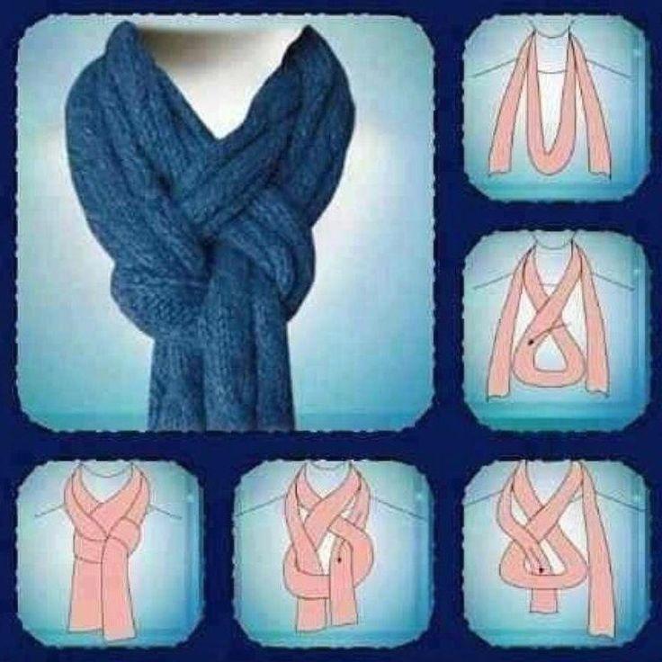 Как красиво завязать шарф | Как красиво завязывать шарф, платок