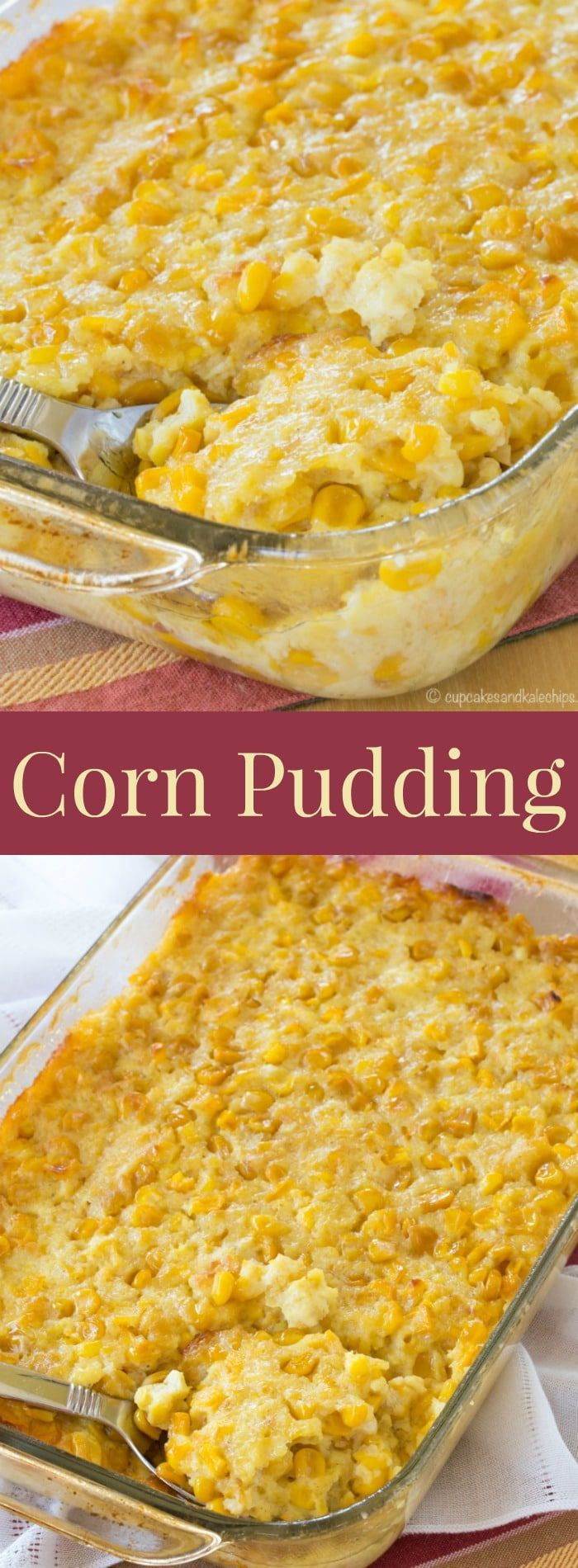 Corn Pudding - an easy family favorite side dish recipe for Thanksgiving and Christmas. You have to add this to your holiday menu!