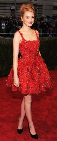Best Dressed: The 2012 Met Gala: Emma Stone in Lanvin