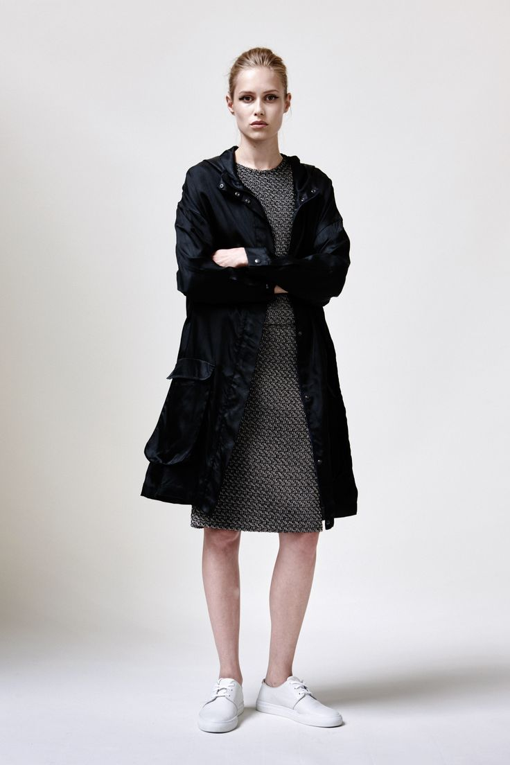 Nava Coat, Hylje Top, Pencil Skirt and Leather Sneakers | Samuji SS16 Seasonal Collection