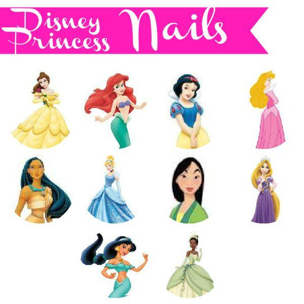 Disney Princess Inspired Nails (10 Princesses, 10 nail art designs)