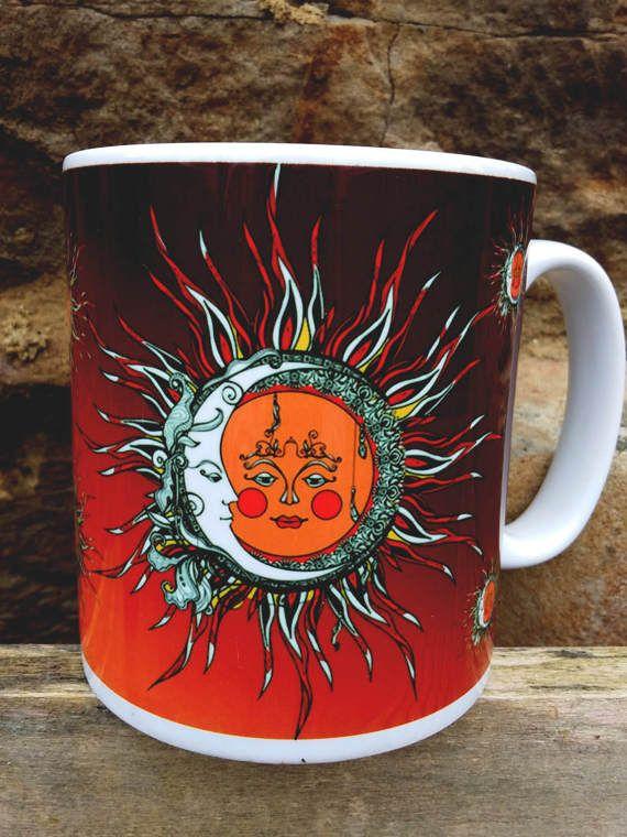 Sun and Moon Pagan Mug  PaganMystical Sun and Moon love