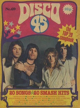 Disco 45 song lyrics magazine  Pre-google!!!!