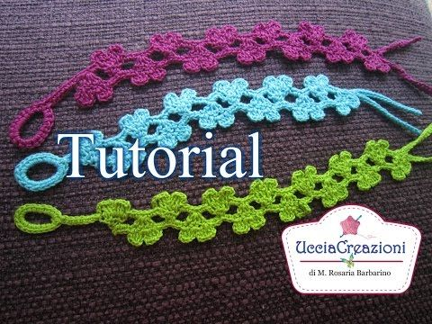 Tutorial 15 Parte1. *Bracciali Cuori Doppi all' Uncinetto* Cruciani Crochet Double-Hearts Bracelets - YouTube