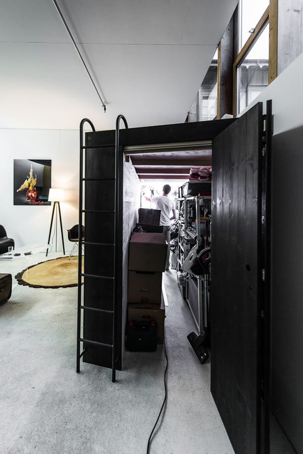 This guy moved into a studio apartment that had no storage, so he took matters into his own hands and built this amazing 'The Living Cube' - Imgur