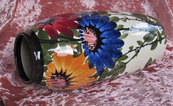 1910s Floral Vase H Seifert Zell Harmersbach Antique Hand