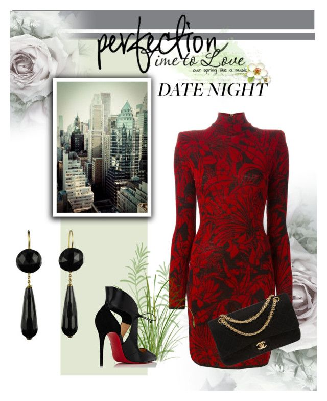 Date night by martika-1976 on Polyvore featuring moda, Balmain, Christian Louboutin, Chanel, DateNight and NightOut