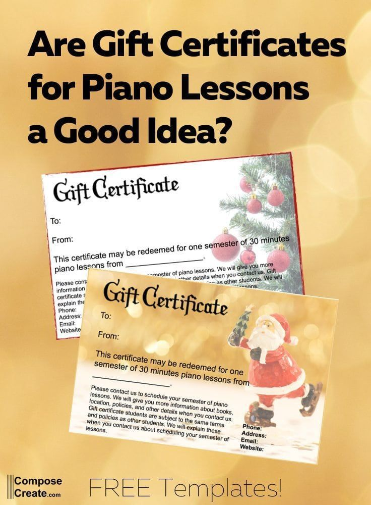 Are Gift Certificates For Piano Lessons A Good Idea Piano Lessons Free Piano Lessons Free Gift Cards