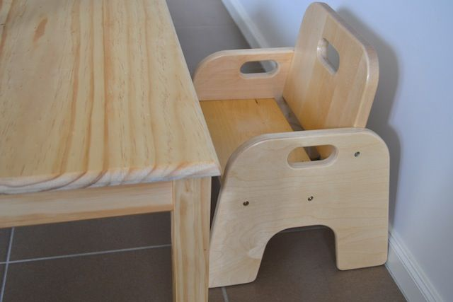 Montessori Weaning Table And Chair Part One Toddler
