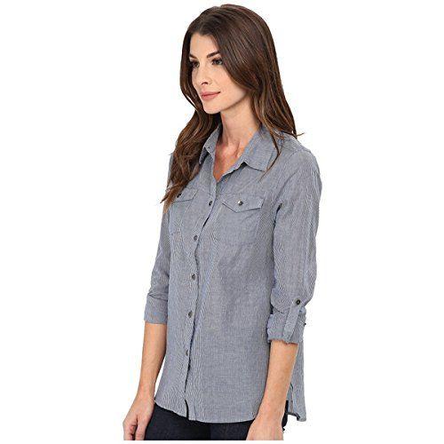 (ジャグ ジーンズ) Jag Jeans レディース トップス 長袖シャツ Dawn Shirt Classic Fit Shirt Woven Tops 並行輸入品  新品【取り寄せ商品のため、お届けまでに2週間前後かかります。】 カラー:Blue Stripe 商品番号:ol-8576603-16400
