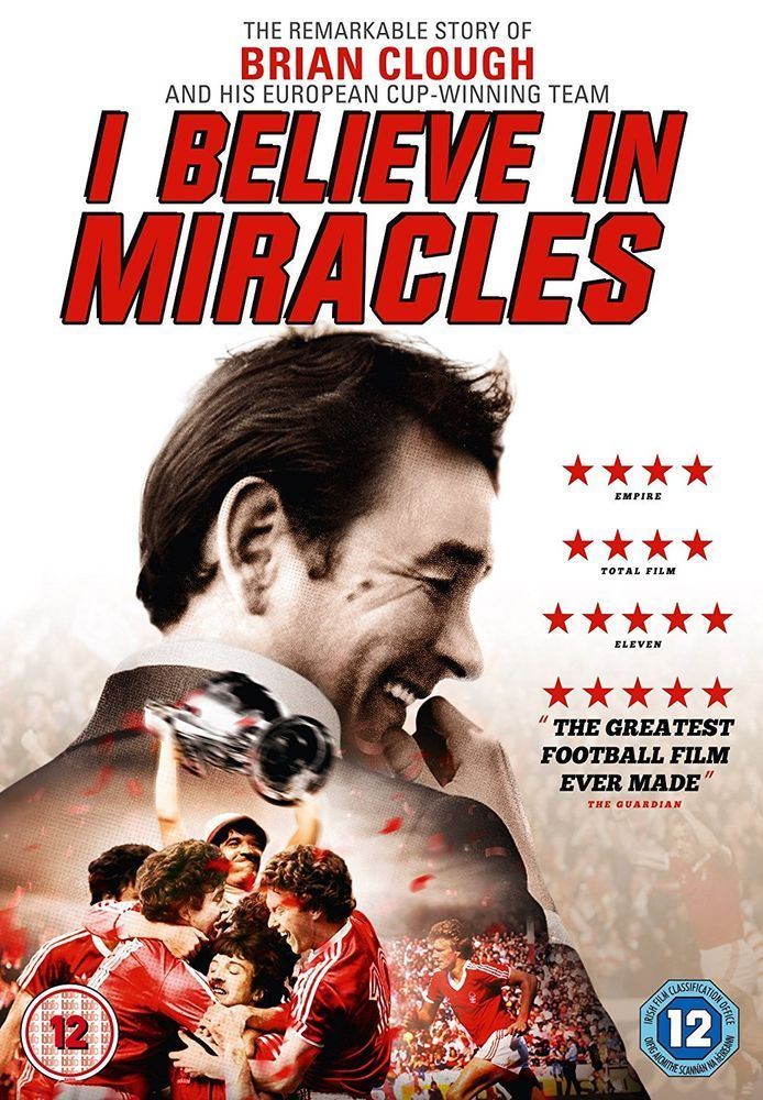 Brian Clough: I Believe in Miracles [DVD] [2015] Free Same Day Dispatch
