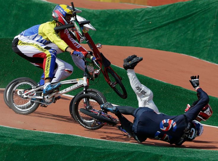Liam Phillips of Great Britain (Front-R) and David Graf of Switzerland (Back-R)…