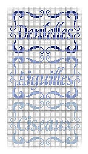 Etiquettes brodées au point de croix n°2 - Les grilles de Liselotte