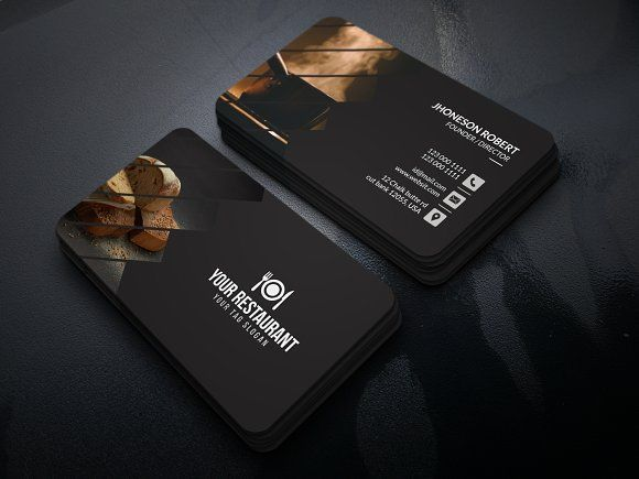 Restaurant Food Business Card Food Business Card Interior Designer Business Card Business Cards Creative