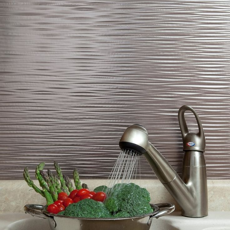 Shop Unbranded 18-in x 24-in Ripples Brushed Nickel Backsplash Panel at Lowe's Canada. Find our selection of backsplashes & wall tile at the lowest price guaranteed with price match + 10% off.