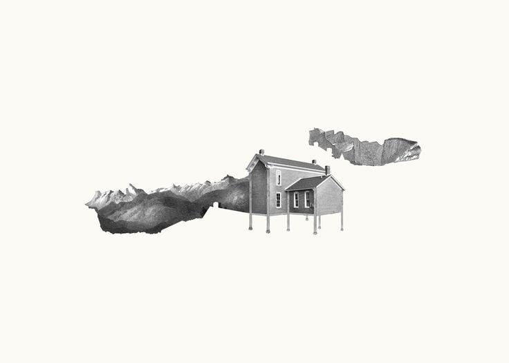 Terrain non constructible/ impression numérique sur papier Arches / Claire Trotignon