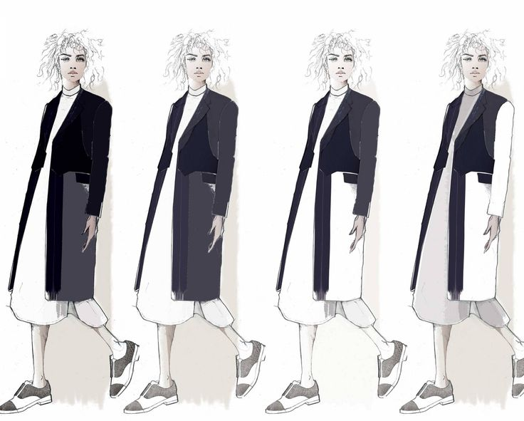 Fashion Sketchbook - fashion illustrations; tailoring; graduate fashion portfolio // Emma Louise Williams