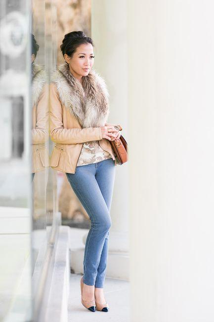 10 Best images about Fur Collar on Pinterest | Denim jackets Zara